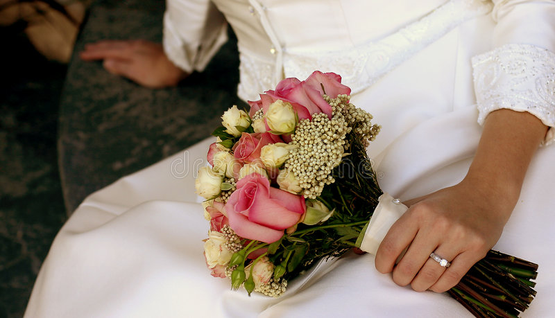 Bridal flowers stock photos
