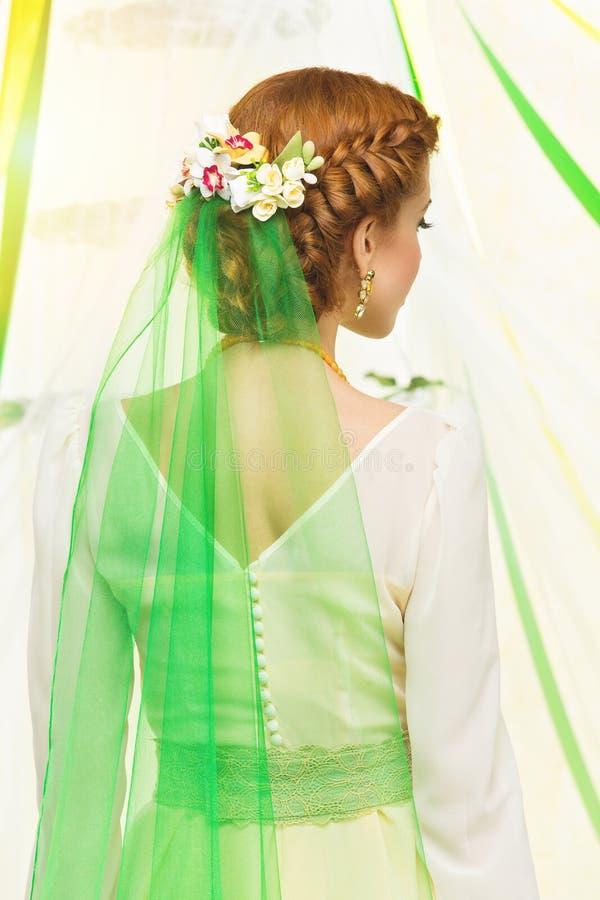 Bridal fryzura zdjęcia royalty free