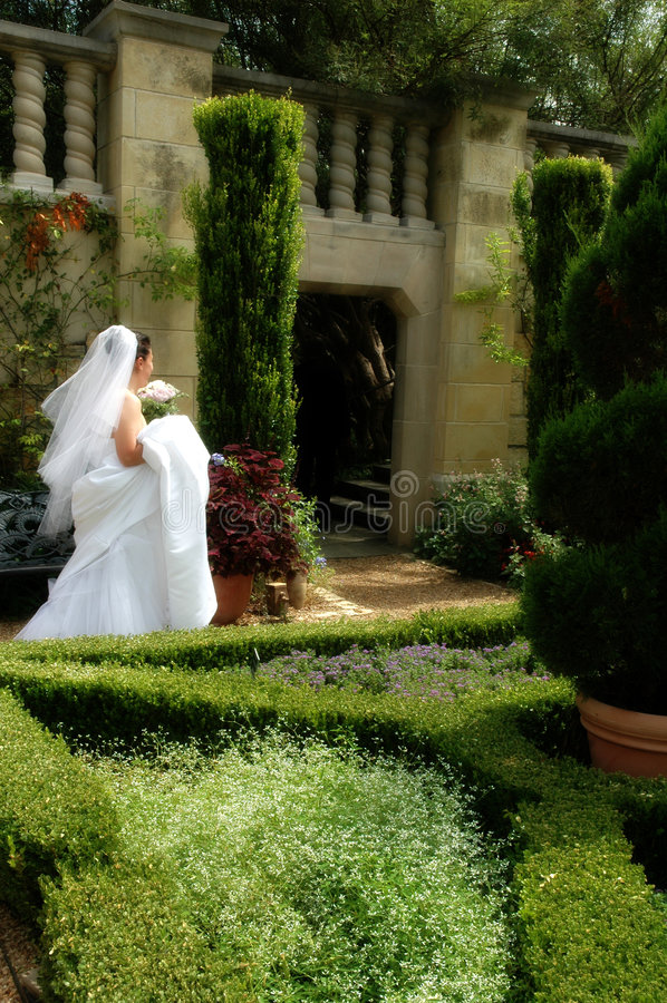 Bridal Garden stock photo