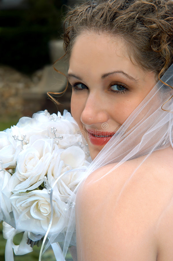 Download Bridal Glow stock image. Image of looking, happy, face - 6100379