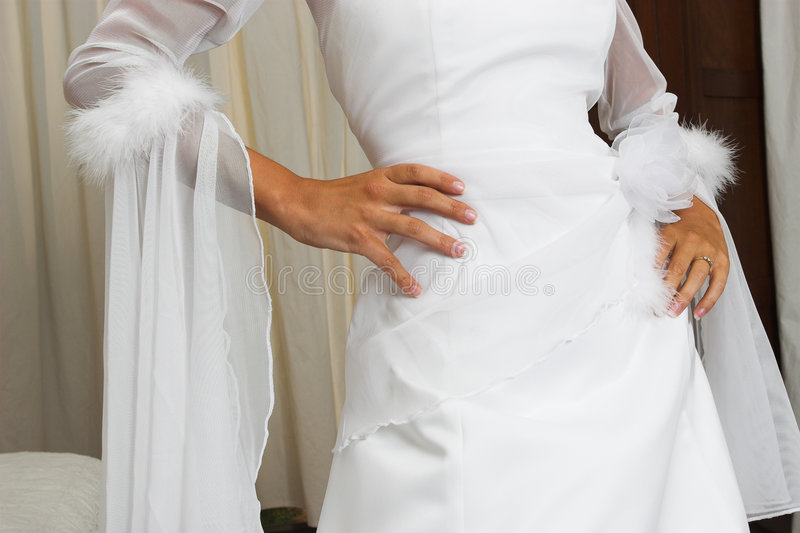 Download Bridal gown stock image. Image of bride, hips, girl, fingers - 115627