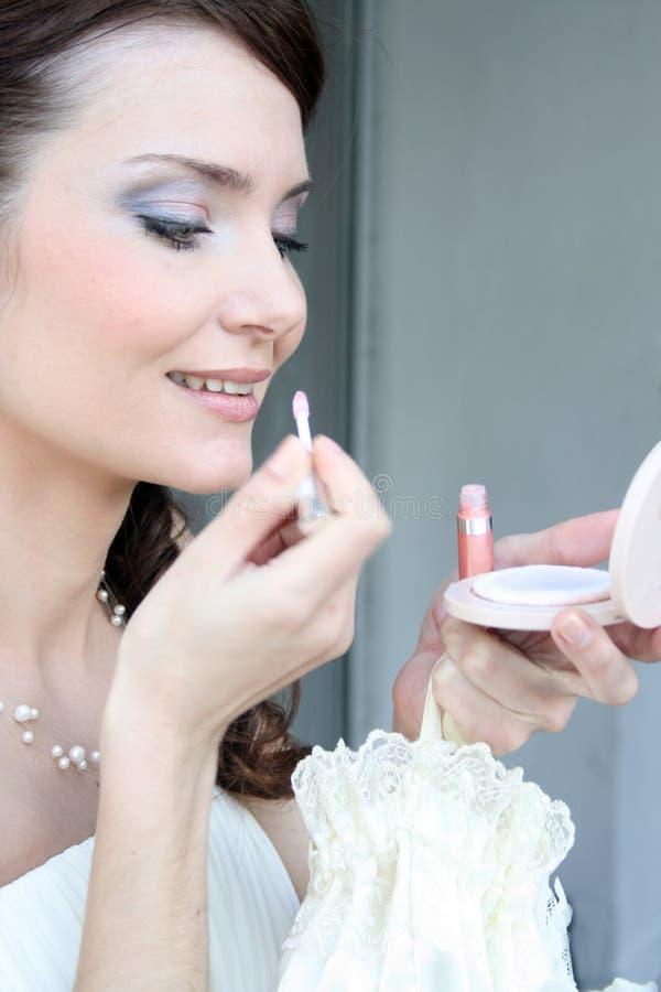 Bridal makeup stock image