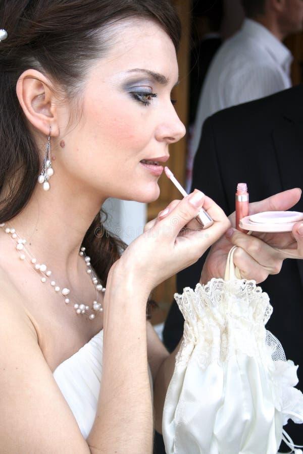 Bridal makeup royalty free stock image