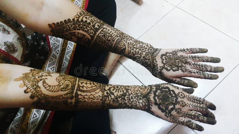 Bridal mehendi royalty free stock photo