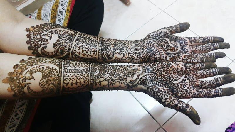 Bridal mehendi stock images