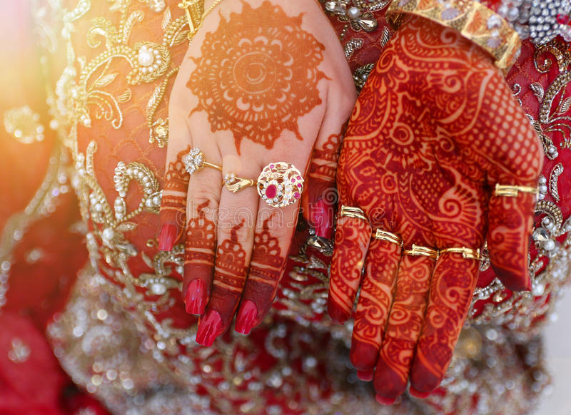 Mehndi Hands Bridal : Bridal mehndi hands stock photo image of beauty fingers