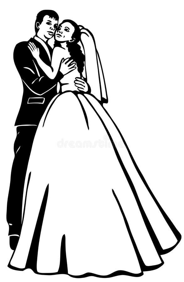 Bridal para ilustracja wektor