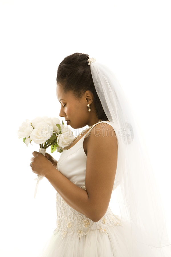 Bridal portrait. royalty free stock images