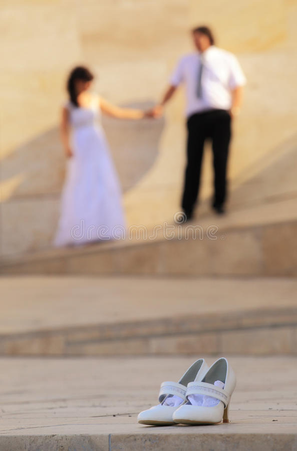 Download Bridal shoes stock image. Image of hand, hand, tender - 23331001
