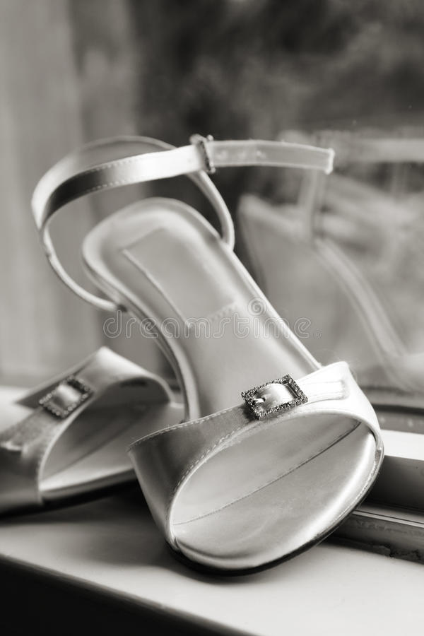 Bridal Shoes Royalty Free Stock Photography