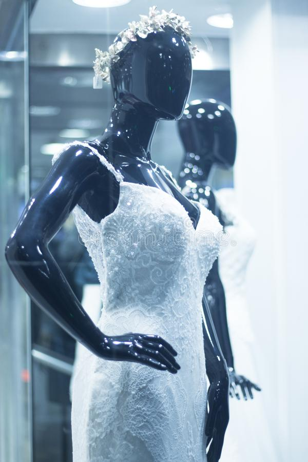 Bridal shop dummy bride mannequin royalty free stock photos