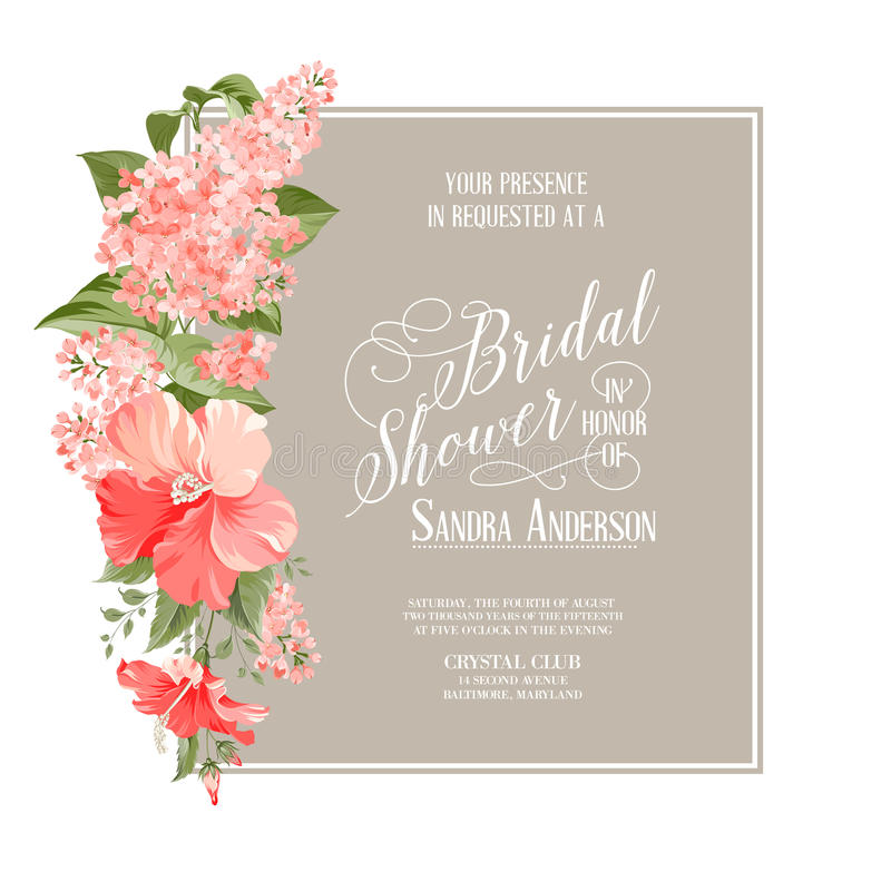 Free Bridal Shower Card Stock Photo - 51952370