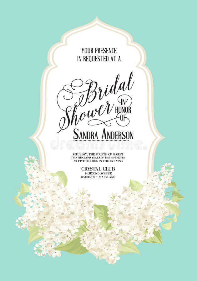 Free Bridal Shower Card Stock Photography - 51952372