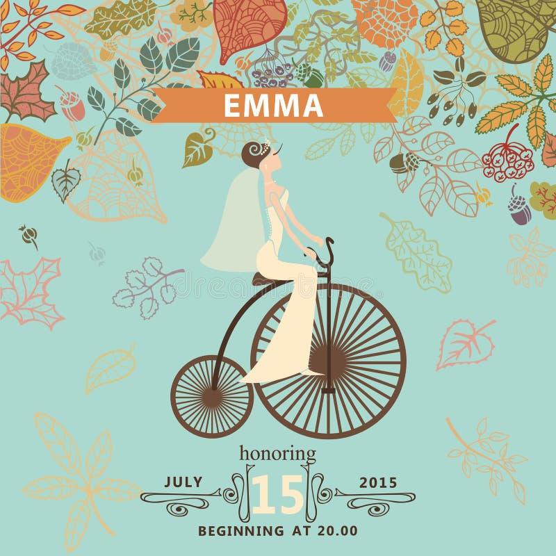 Bridal shower invitationideretro bicycle stock vector download bridal shower invitationideretro bicycle stock vector illustration of decorative filmwisefo Choice Image