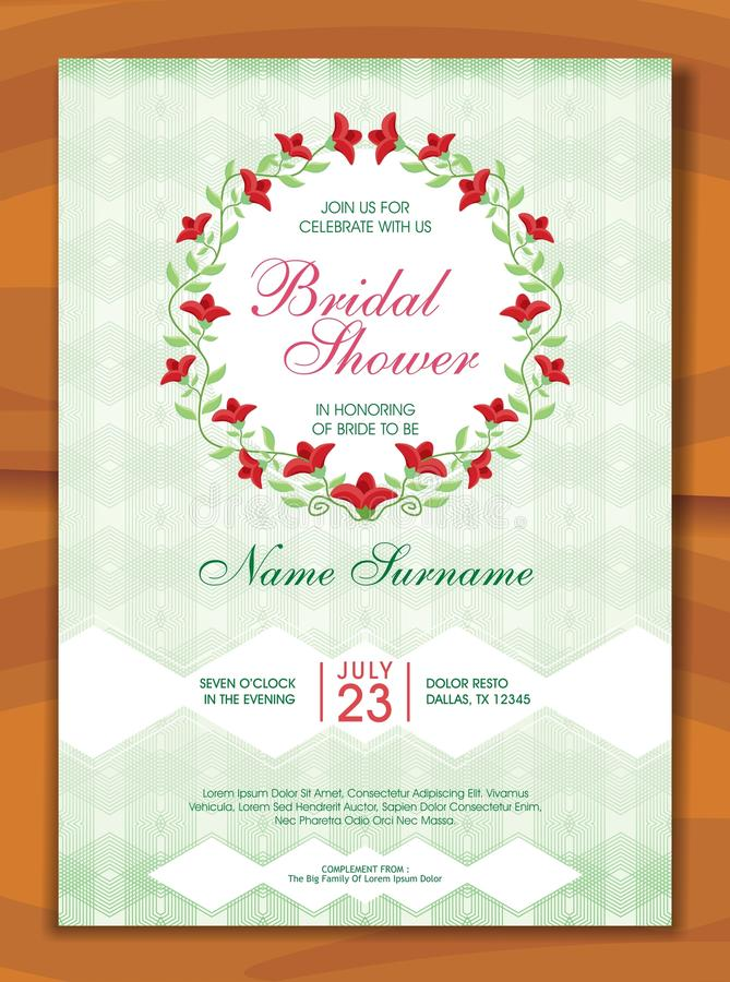Bridal shower invitation with lovely design stock vector bridal shower invitation with lovely design is a professional clean creative bridal shower invitation template designed to make a good impression filmwisefo