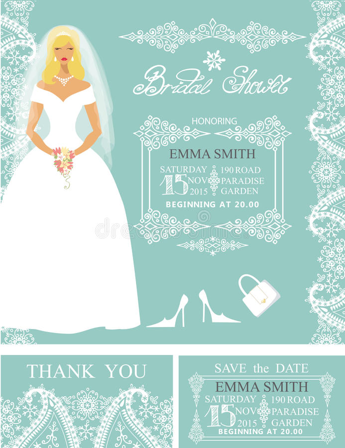 Bridal shower invitationsidewinter wedding border stock vector download bridal shower invitationsidewinter wedding border stock vector illustration of elegant filmwisefo