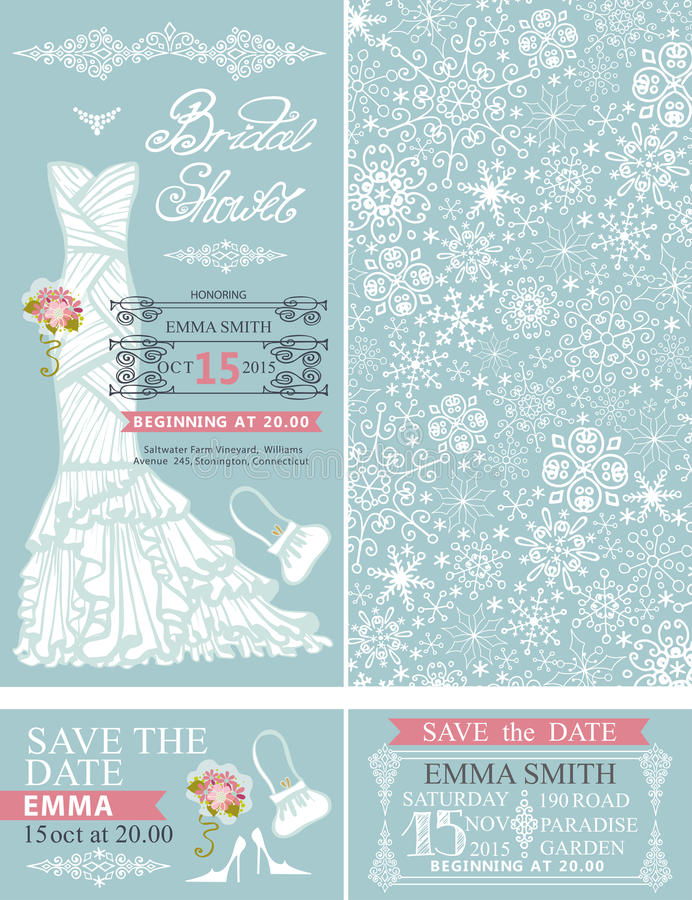 Bridal shower invitationswinter weddingdress stock vector download bridal shower invitationswinter weddingdress stock vector illustration of illustration filmwisefo