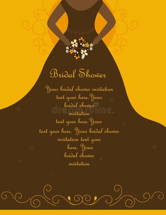 Bridal Shower / Wedding Invitation Stock Images