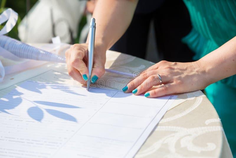 Bridal signature stock image