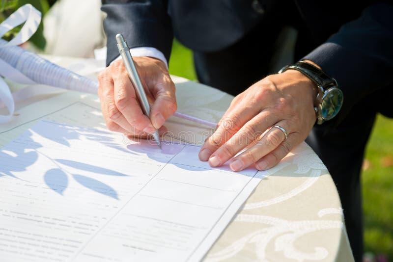 Bridal signature royalty free stock photography