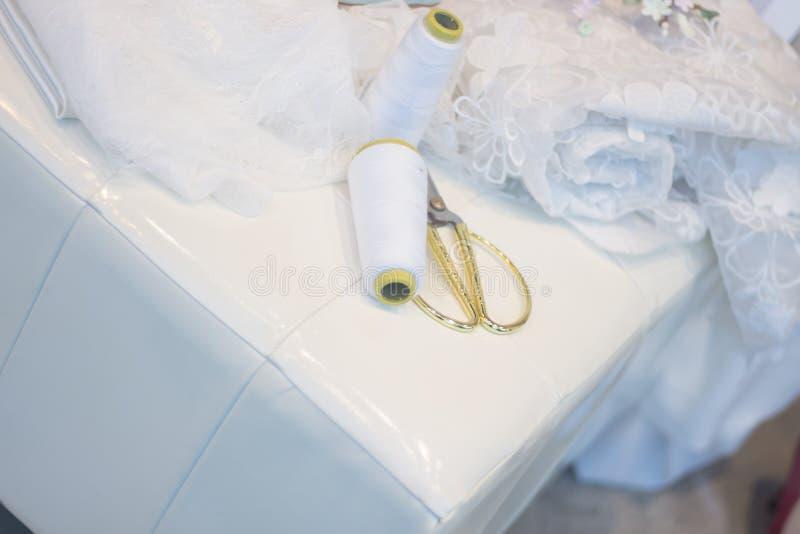 Bridal store dress shop window stock photos