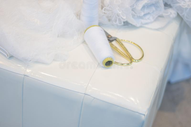 Bridal store dress shop window royalty free stock photography