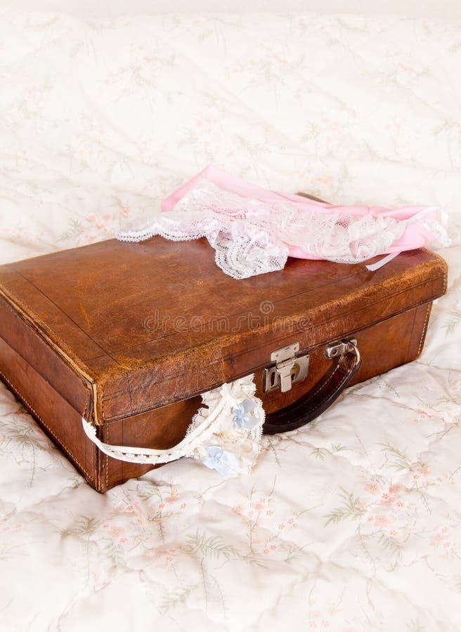 Bridal Suitcase Stock Image