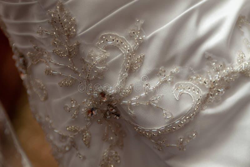 Bridal togi szczegół fotografia stock