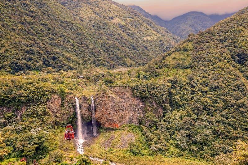 Bridal Veil Also Known As Manto De La Novia Waterfall stock photo