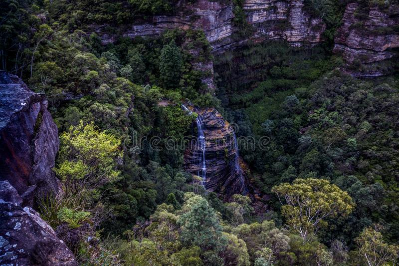Bridal Veil Falls, Blue Mountains National Park royalty free stock image