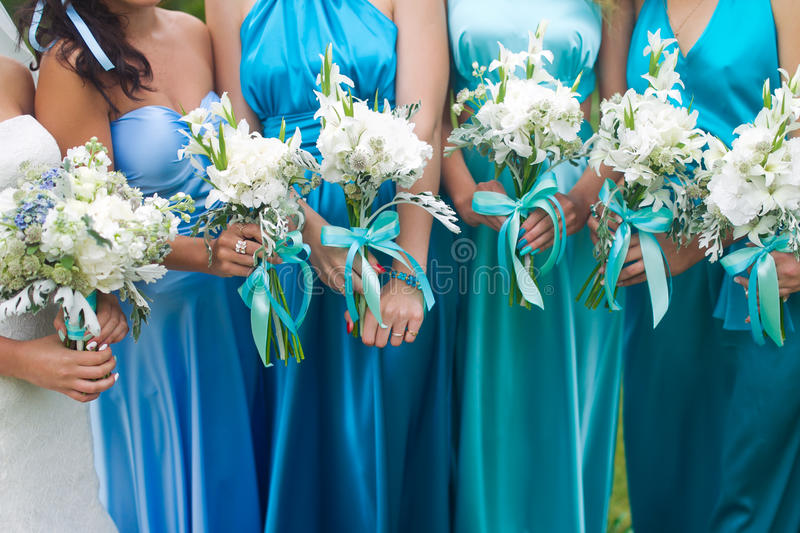 Bridal wedding flowers and brides bouquet royalty free stock photos