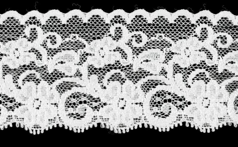 Download Bridal White Floral Lace Band Stock Image - Image: 10741277
