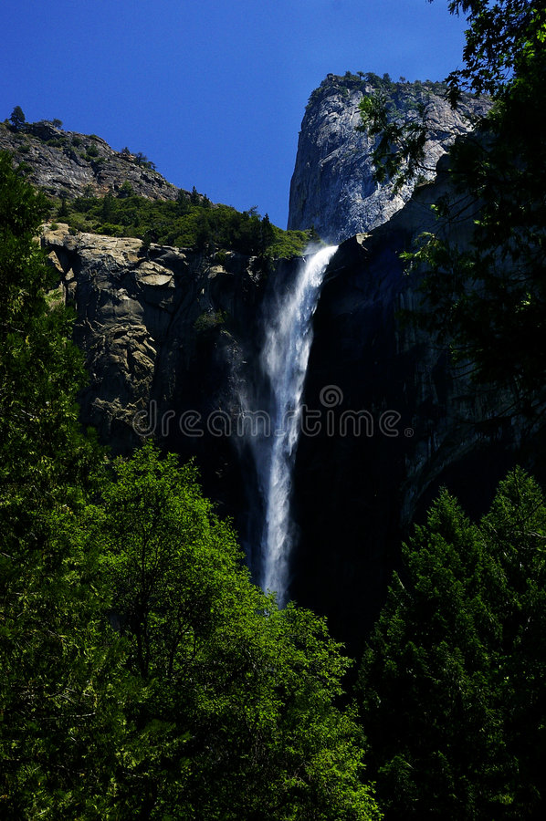 Bridalveil Wasserfall stockfotos