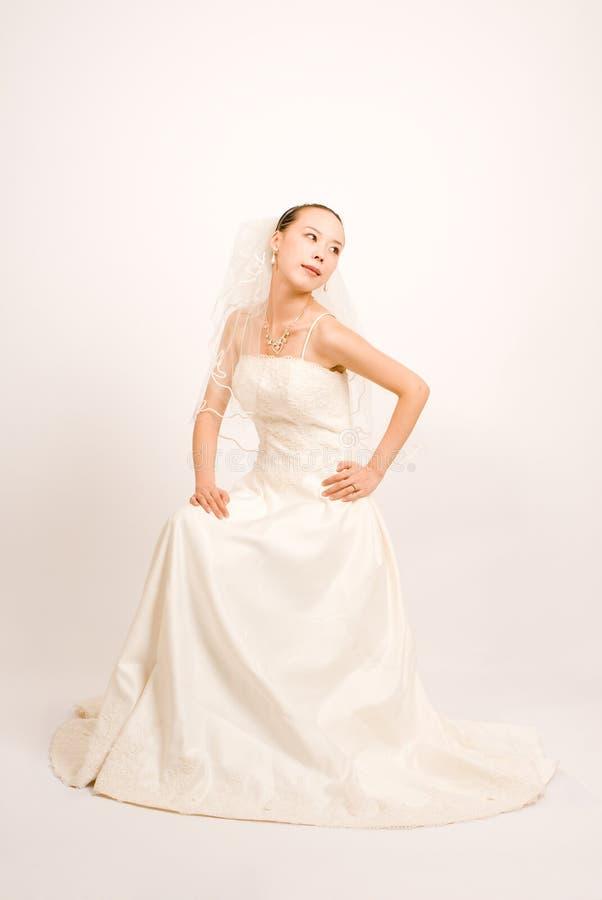 Bride. A Pretty bride in door stock photo