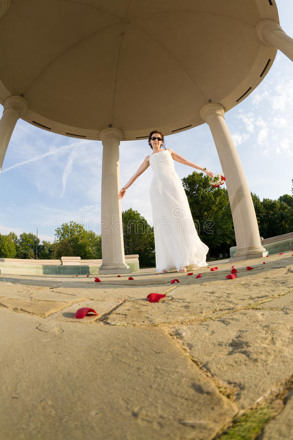 Download Bride stock image. Image of perspective, sunglasses, angle - 12722111