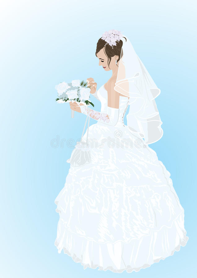 Download Bride stock vector. Image of white, beautiful, luxury - 20544243