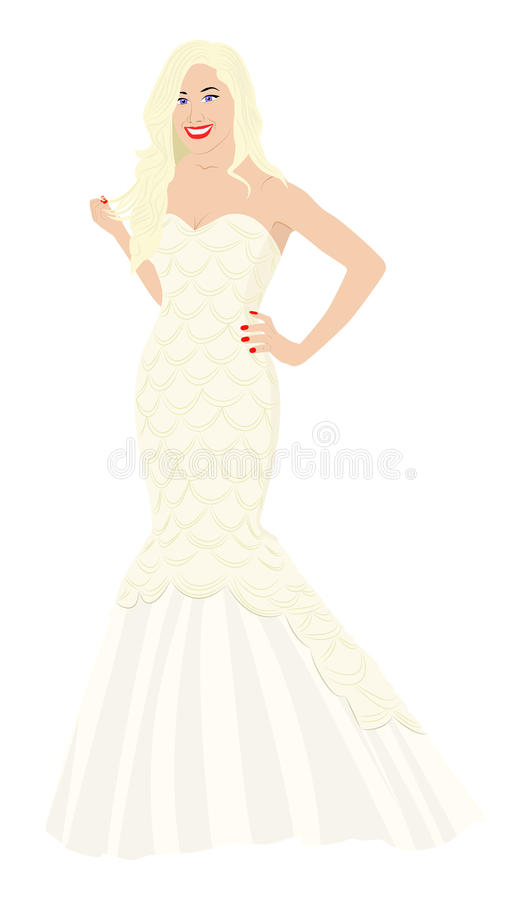 Download Bride stock vector. Image of seduce, smile, blonde, elegant - 23617132