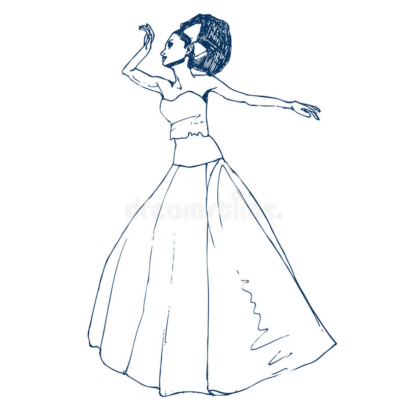 Download Bride stock vector. Illustration of free, portrait, lovely - 25199864