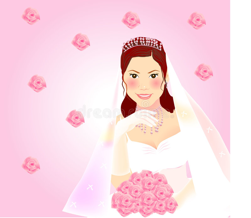 Download Bride stock vector. Image of bridal, jewelry, festival - 5392978