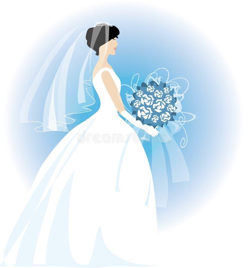Bride. Holding a bouquet