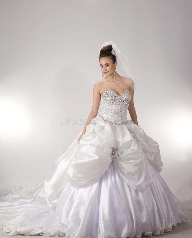 Bride. The White fund come photo stock image