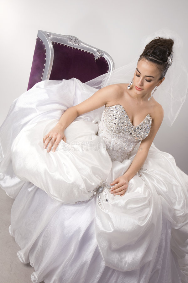 Bride. The White fund come photo royalty free stock photo