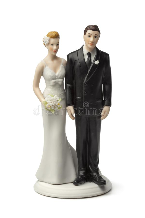 Free Bride And Groom Cake Topper Royalty Free Stock Images - 105763849