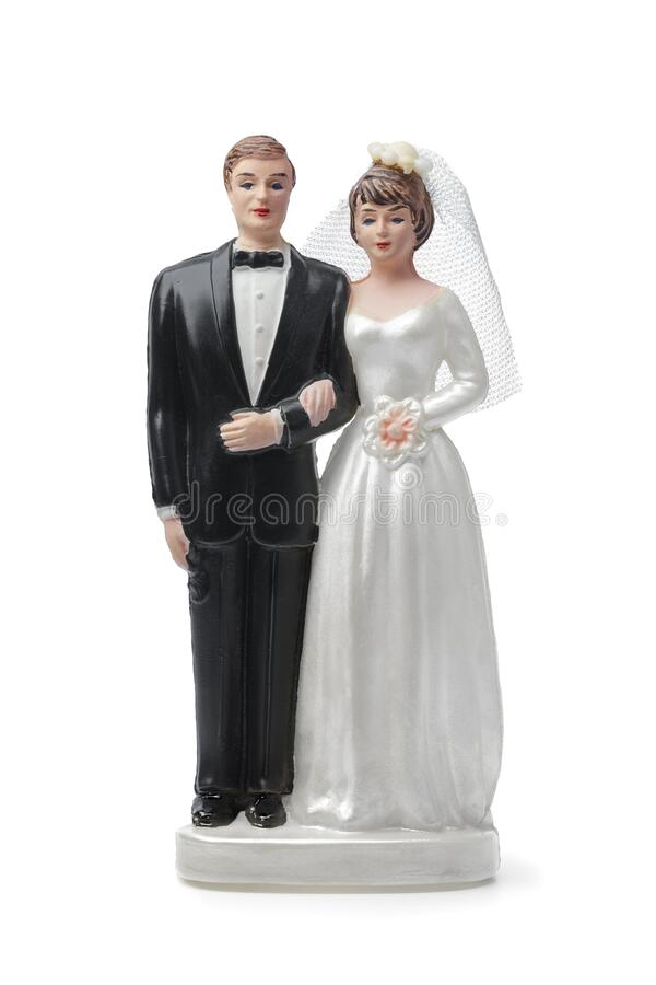 Free Bride And Groom  Cake Topper Stock Photos - 174196833