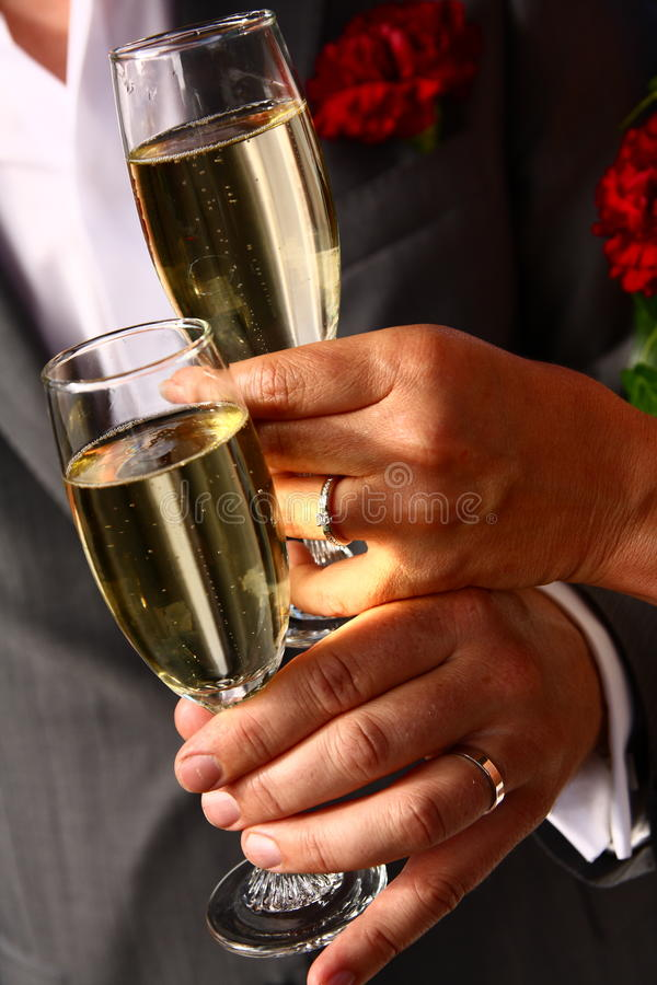 Free Bride And Groom Toasting Stock Photos - 20624823