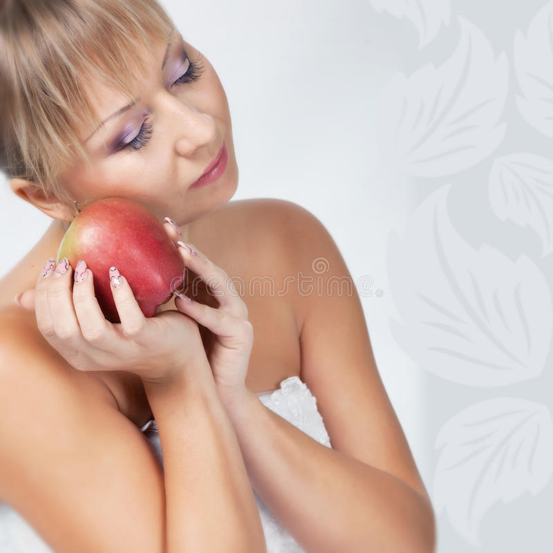 Download Bride with apple stock photo. Image of design, light - 22185932