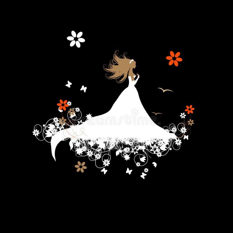 Bride beautiful, illustration vector illustration
