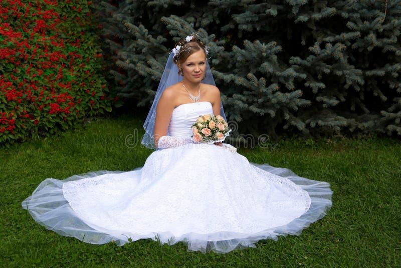 Bride blonde royalty free stock photo