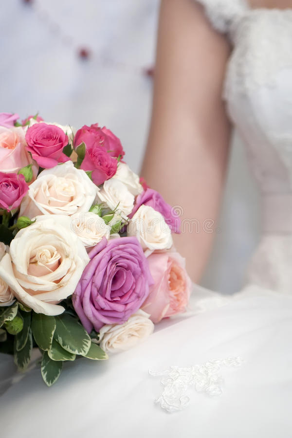 Bride bouquet royalty free stock photo