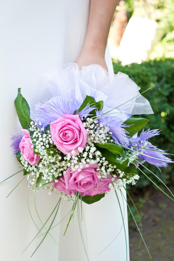 Download Bride bouquet stock image. Image of love, floral, married - 25309169